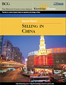 Selling in China Report